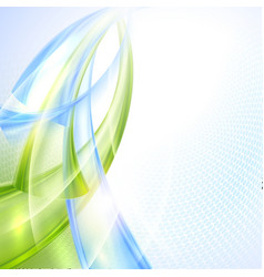 Abstract green and blue wave background vector image