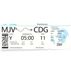 airlane boarding pass vector image