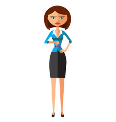 angry unhappy woman thumbs down vector image