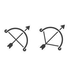 Arch arrow image vector
