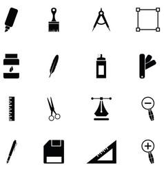 art tool icon set vector image
