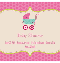 Bagirl shower and arrival card vector