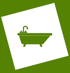 Bathtub sign white icon vector