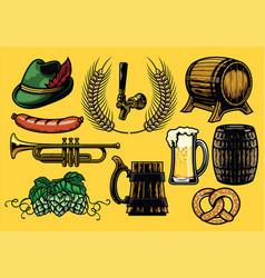 beer element set in color version vector image vector image