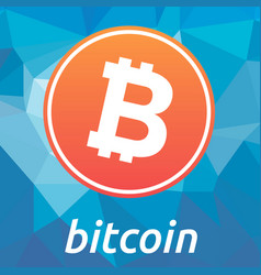bitcoin blockchain criptocurrency orange logo vector image