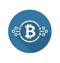 bitcoin cryptocurrency icon vector image