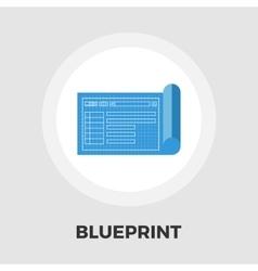 Blueprint flat icon vector