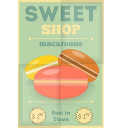candy shop macaroon vector image