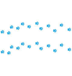 cat paw footprint on white background vector image