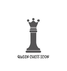 chess queen piece icon simple flat style vector image