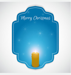 Christmas - tag with a burning candle Suitable vector