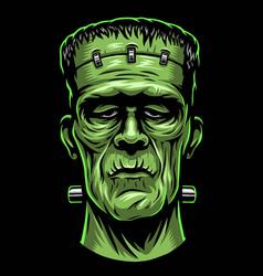 Color frankenstein head vector