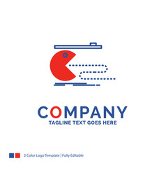 Company name logo design for character computer vector