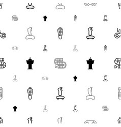 controller icons pattern seamless white background vector image