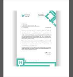 Corporate style letterhead template vector