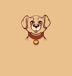Cute and kawaii labrador puppy for logo vector