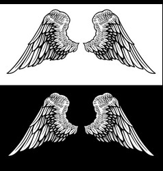 eagle wings on light background design element vector image