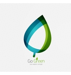 Eco nature leaf go green environmental concept vector image vector image