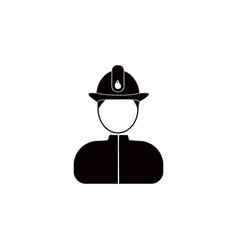 fireman avatar iconelement of popular avatars vector image