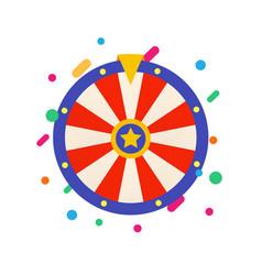 Flat fortune wheel for gambling game raffle vector