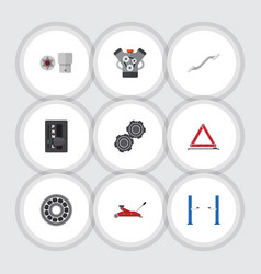 flat icon service set of warning automatic vector image