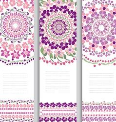 Floral cards set vector