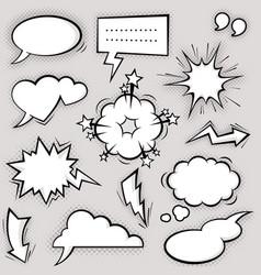 funny comic balloons vector image