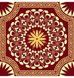 Gold pattern spirals swirls and chains vector