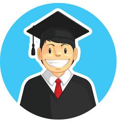 graduation mortarboard trencher cap boy school vector image