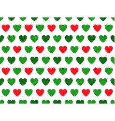 Green and red heart shape pattern vector
