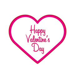 happy valentines day heart flat vector image