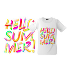 Hello summer t-shirt design modern print vector