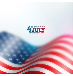 Independence day of the usa background vector