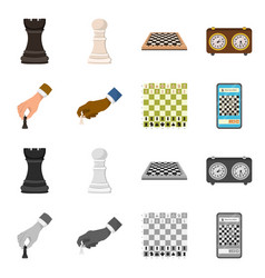 isolated object of checkmate and thin symbol vector image