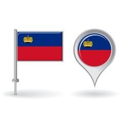 Liechtenstein pin icon and map pointer flag vector