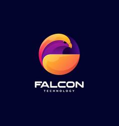 logo falcon gradient colorful style vector image