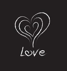 Love chalk text vector