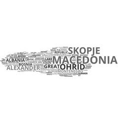 macedonia word cloud concept vector image