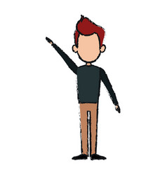 Man standing cartoon male people avatar vector