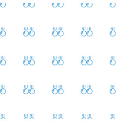 Meat icon pattern seamless white background vector