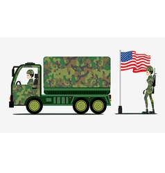 Military Trucks vector image