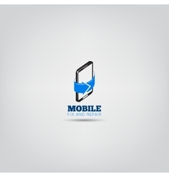 Mobile repair service logo vector image
