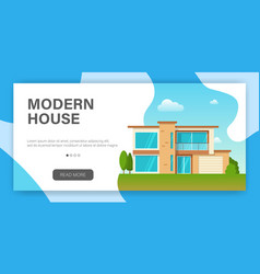 modern cottage house web page design template vector image