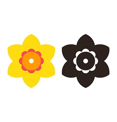 Narcissus - flower icon set vector