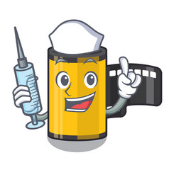 Nurse camera roll isolated with character vector