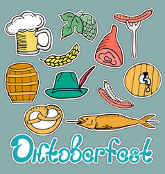 oktoberfest national german festival sticker of a vector image