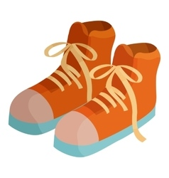 Pair of boots icon cartoon style vector