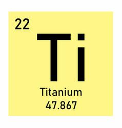 Periodic table element titanium vector