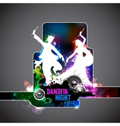 Poster for Dandiya night vector image