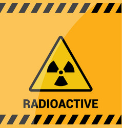 Radioactive zone sign or symbol warning vector